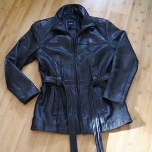 JLC genuine leather outwear jacket sz S